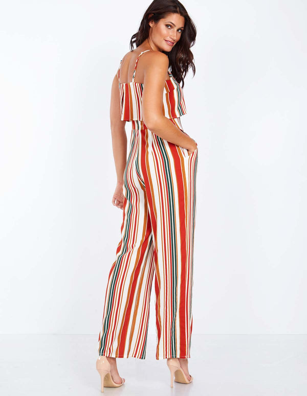1b640ca704 PAULINE - Layered Top Striped Jumpsuit ...