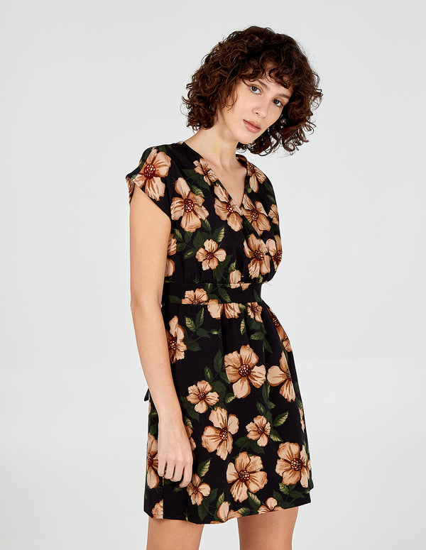 ZARA - Tie Back Wrap Tulip Dress