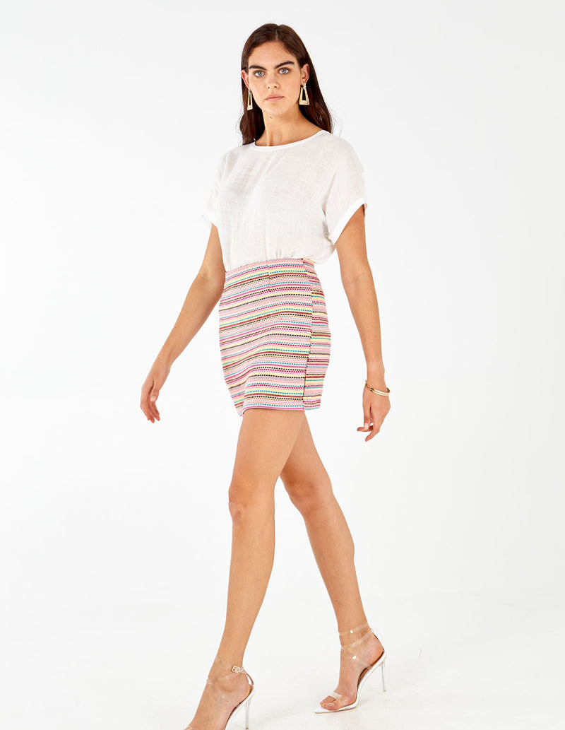 COLLEEN - Craft Mini Muticolor Skirt