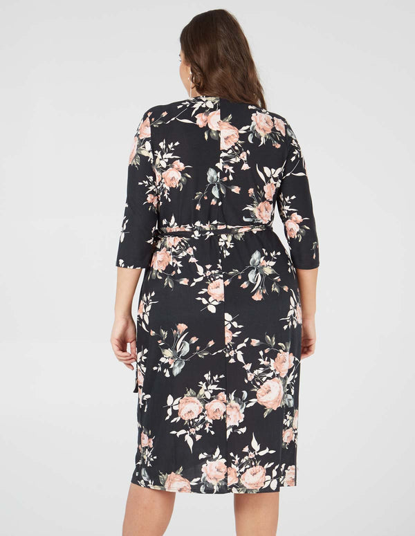 HARLOW - Curve Soft Touch Floral Wrap Dress