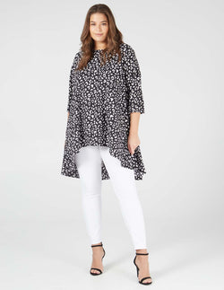 MAKAYLA - Black / Ivory Hem Top