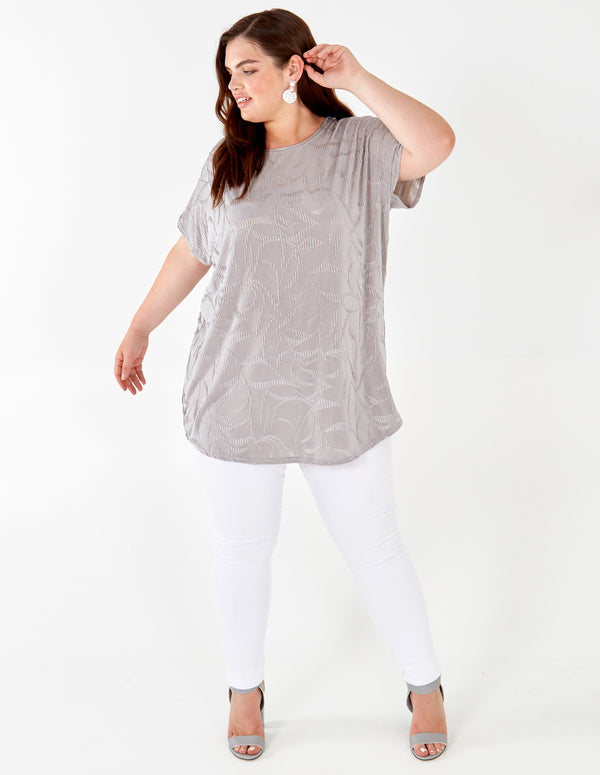 KAIYA - Jacquard Ripple Effect Top