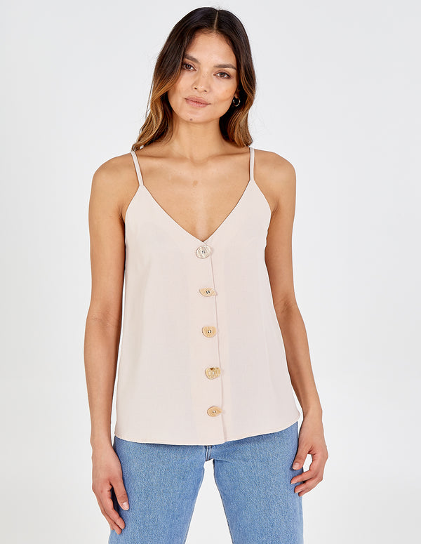 SAVANNA - Button Front Cami Top