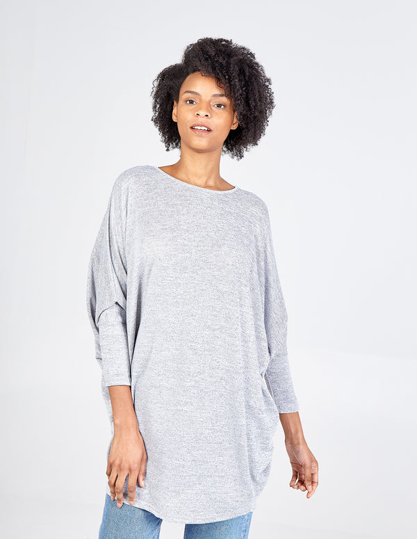 AMBER - Oversized Batwing Tunic Top
