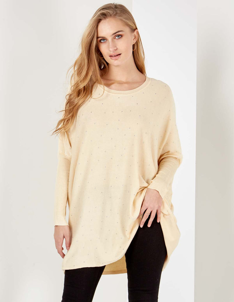 YARDLEY - Studded Front Stone Jumper