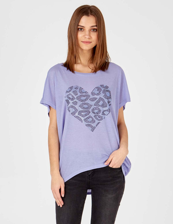 COURTNEY - Lilac Diamond Heart Top