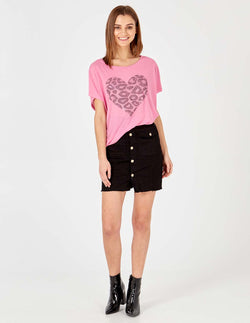 COURTNEY - Pink Diamond Heart Top