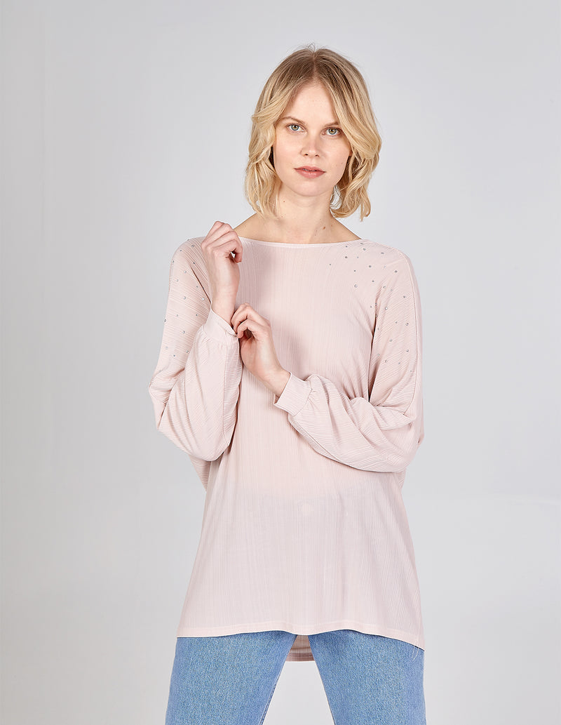 HARLEE - Cross Back Drapped Batwing Top