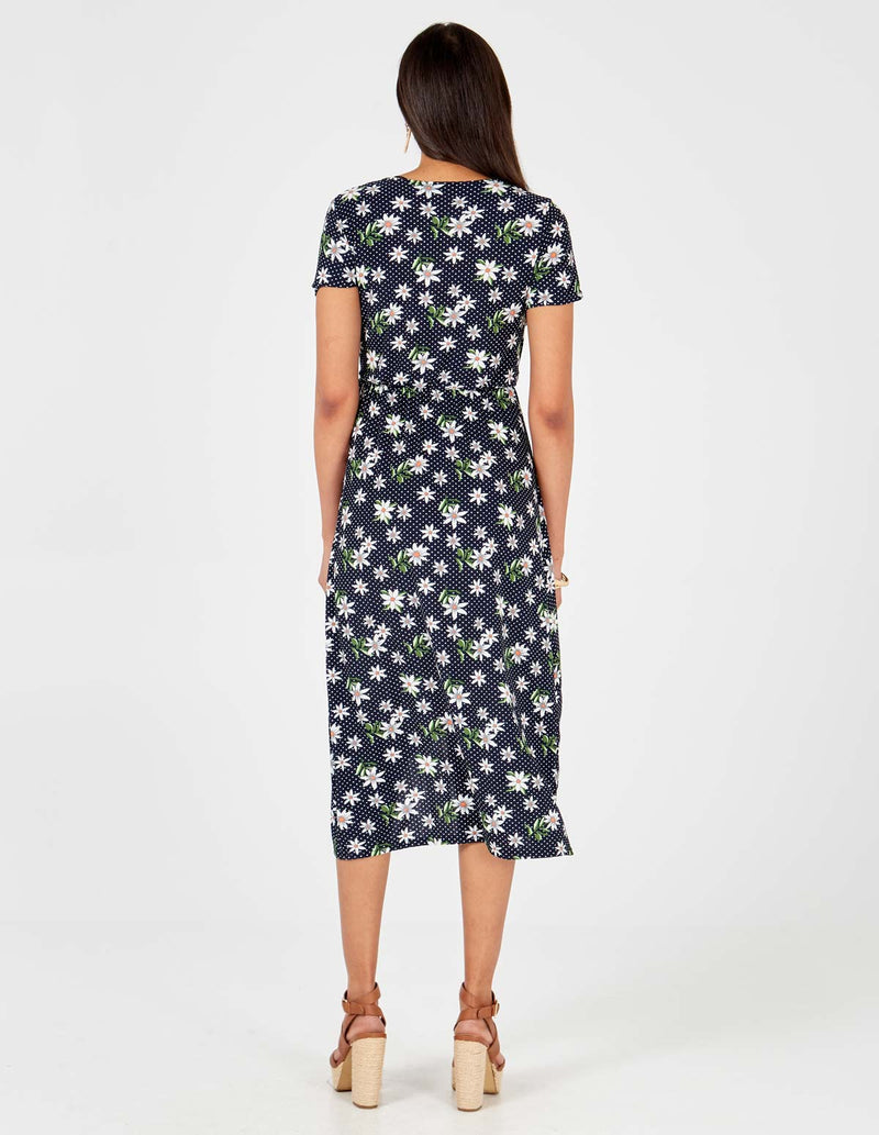 CLARA - High Low Midi Wrap Dress