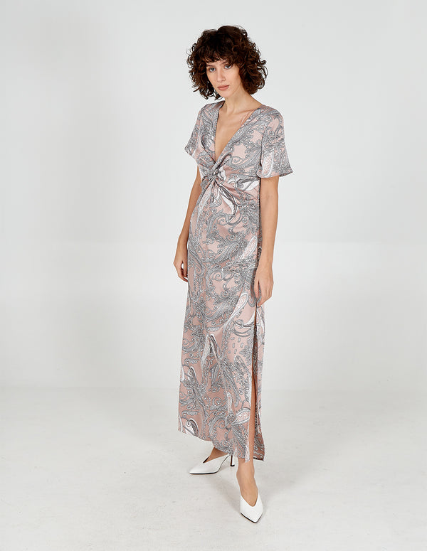 OAKLEE - Twist Front Maxi Dress