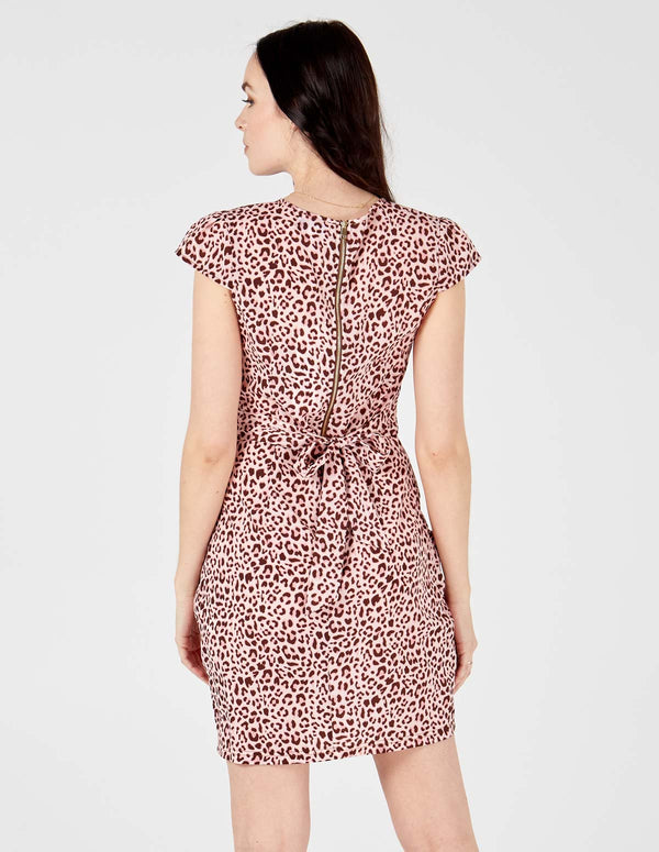 RILEY - Wrap Front Tulip Pink Dress