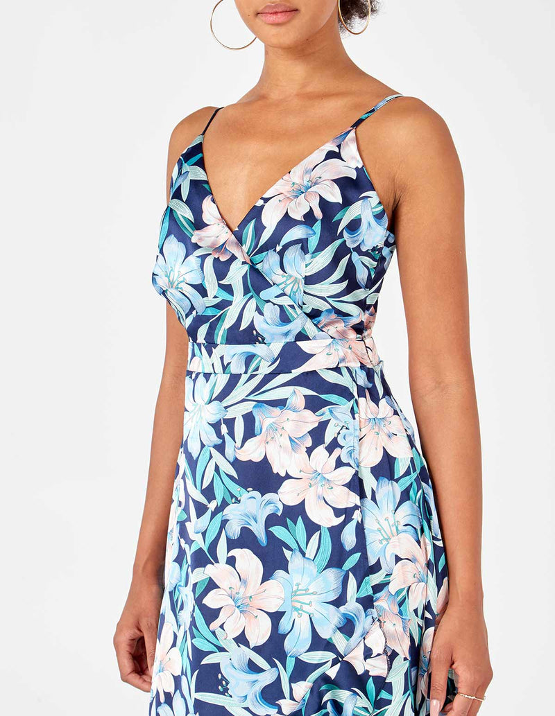 SKYLAR - Hi-Low Wrap Front Dress