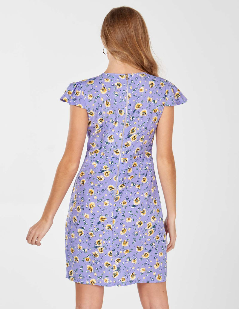ASHA - Lilac Wrap Front Tulip Dress