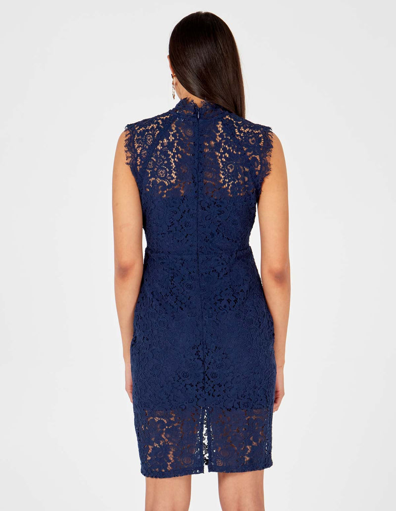 LARA - Navy Lace Dress