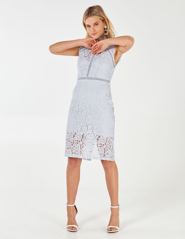 LARA - Sky Blue Lace Dress