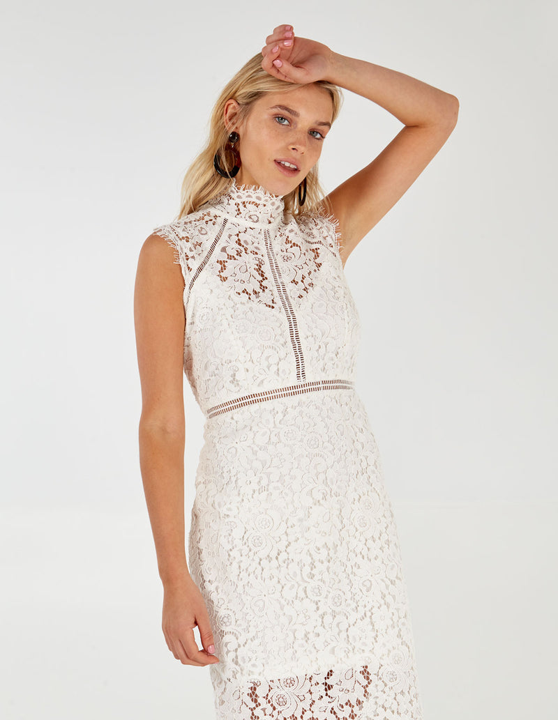 LARA - White Lace Dress