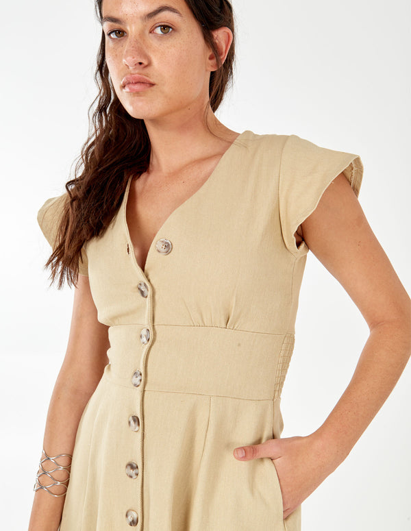 HENRIETTA - Button Front Tea Dress