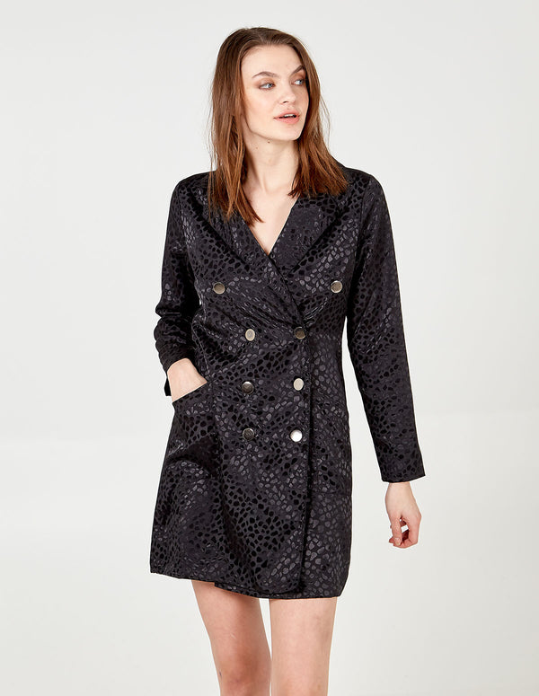 SHIKHA - Animal Double Breasted Jacket Dress