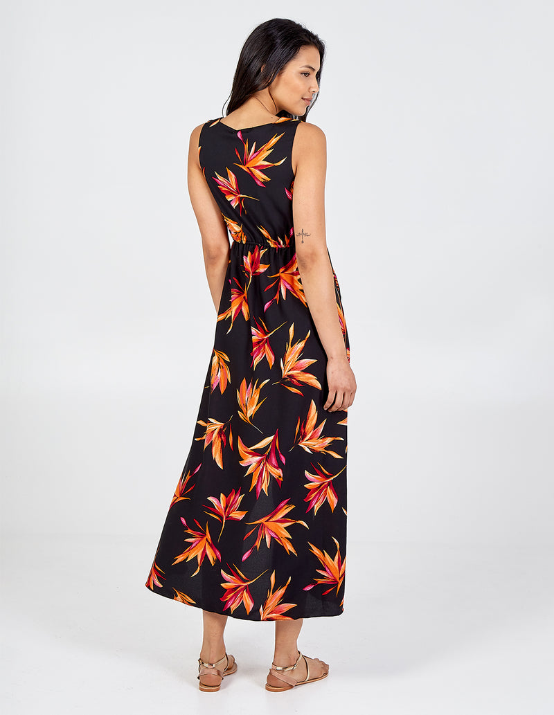 ELENA - Floral Print Hi-Low Hem Dress