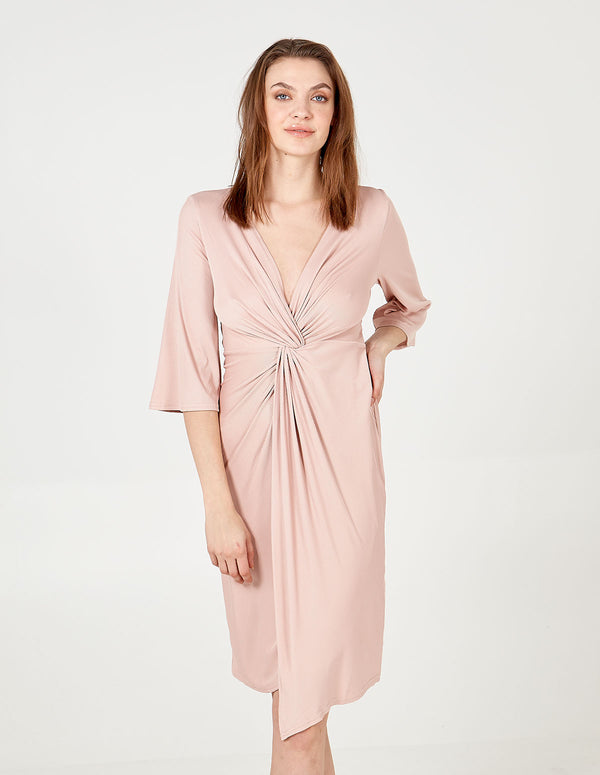 HAYDEN - Twist Front Midi Dress