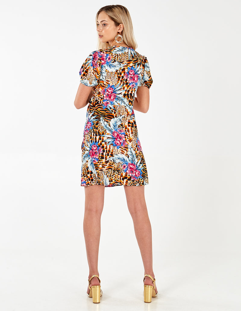 LYNDA - Jungle Wrap Front Dress