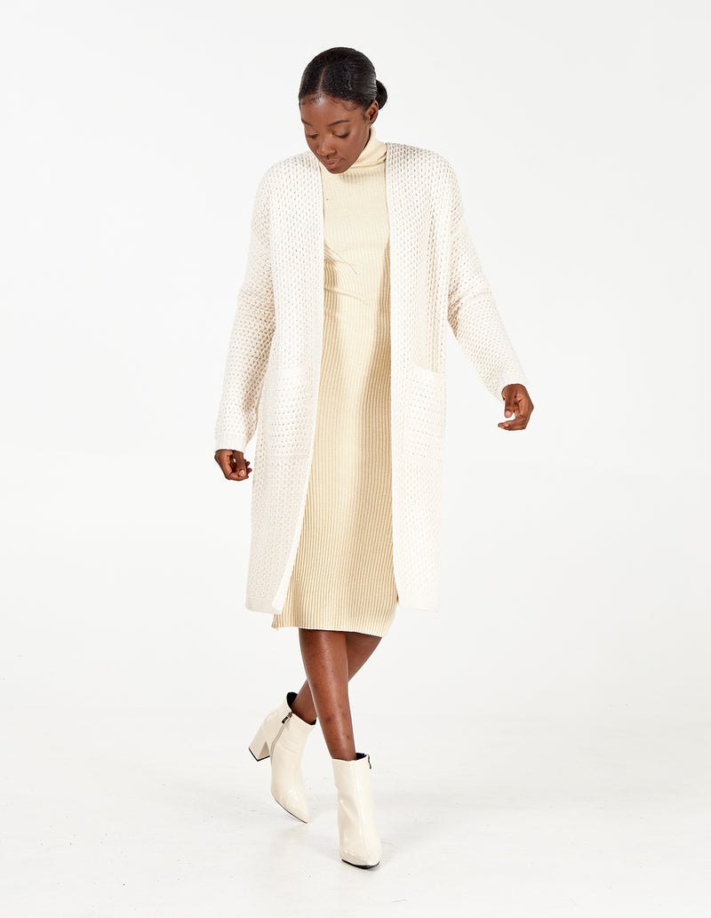 ROBYN - Bone Pocket Longline Cardigan