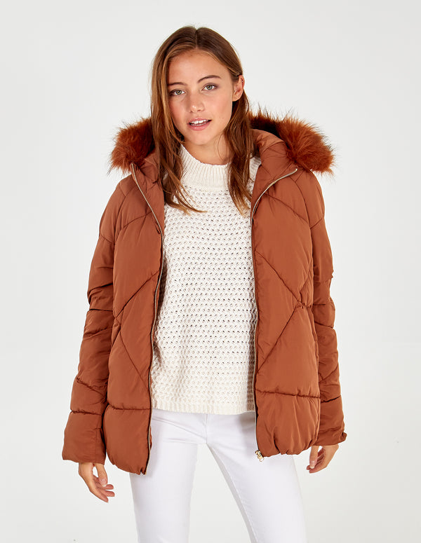 SKYE -  Zip Through Large Quilt Puffer