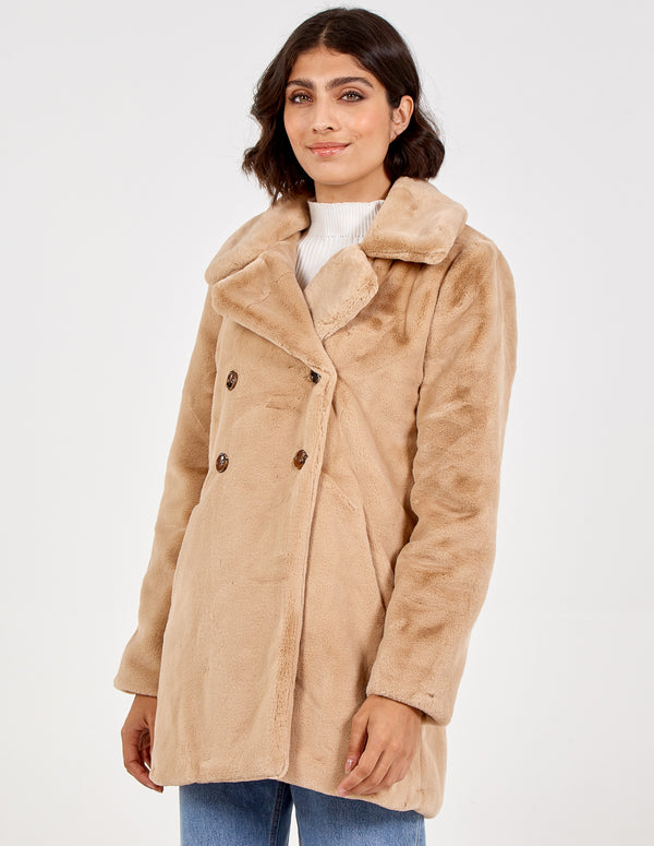 PIPPA - Double Breasted Soft Teddy Coat