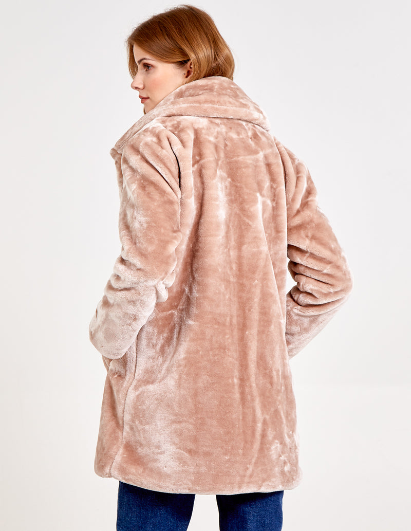 KITTY - Single Breasted Teddy Coat
