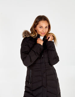 ZUZANNA - Fur Trim Puffer Jacket