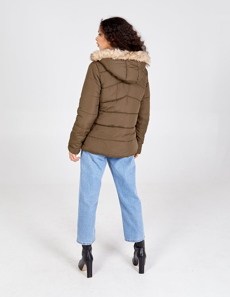 DELILAH - Toggle Front Puffer Coat