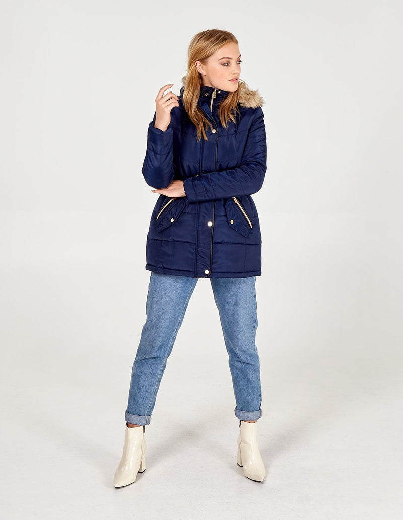 MARNIE - Elasticated Waist Puffer Coat