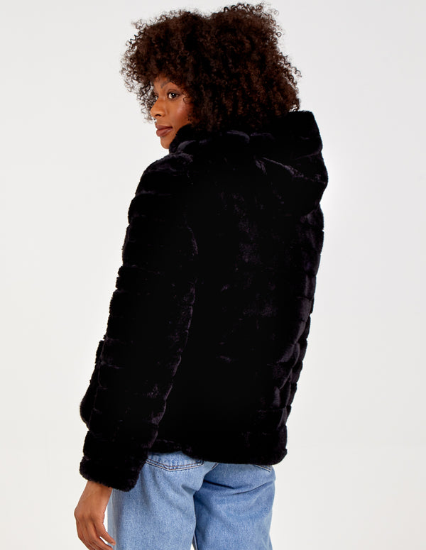 ALEXA - Reversible Faux Fur Puffer Coat