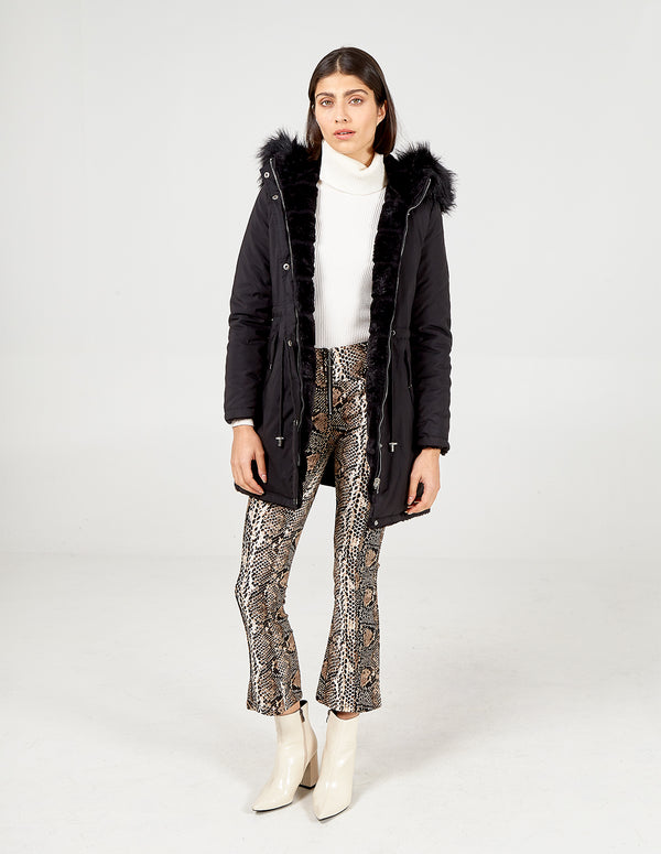 TABITHA -  Reversible Fur & Trench Jacket