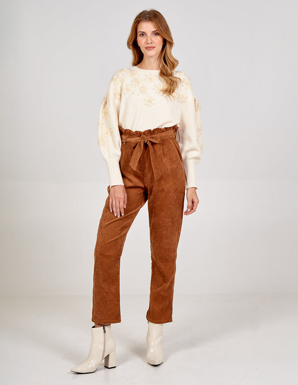 ALIZA - Belted Paperbag Trousers