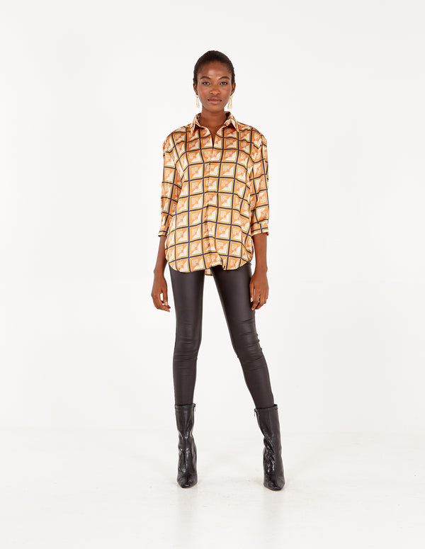 GEORGIE - 3/4 Sleeve Boxy Shirt