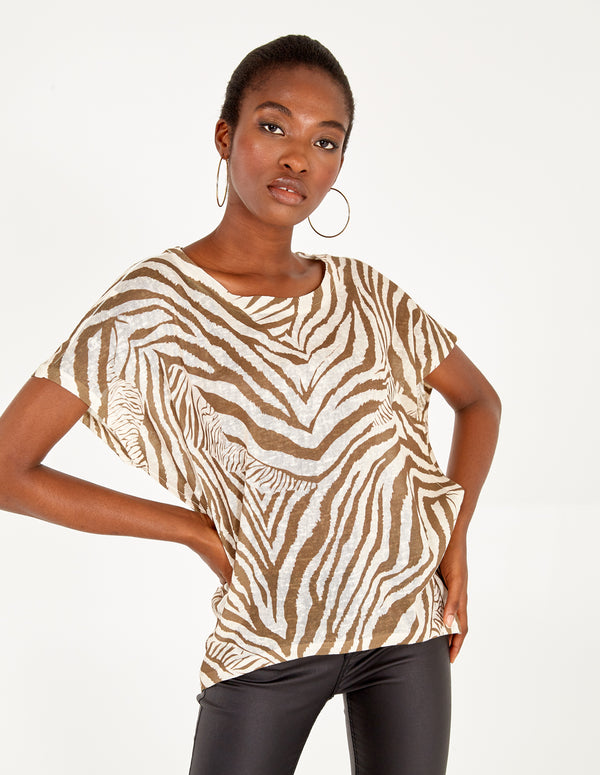 MAIA - Abstract Animal Oversized Top
