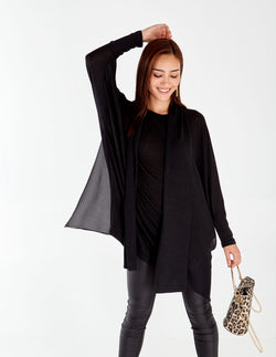 RABIA - Black Tunic Top & Scarf