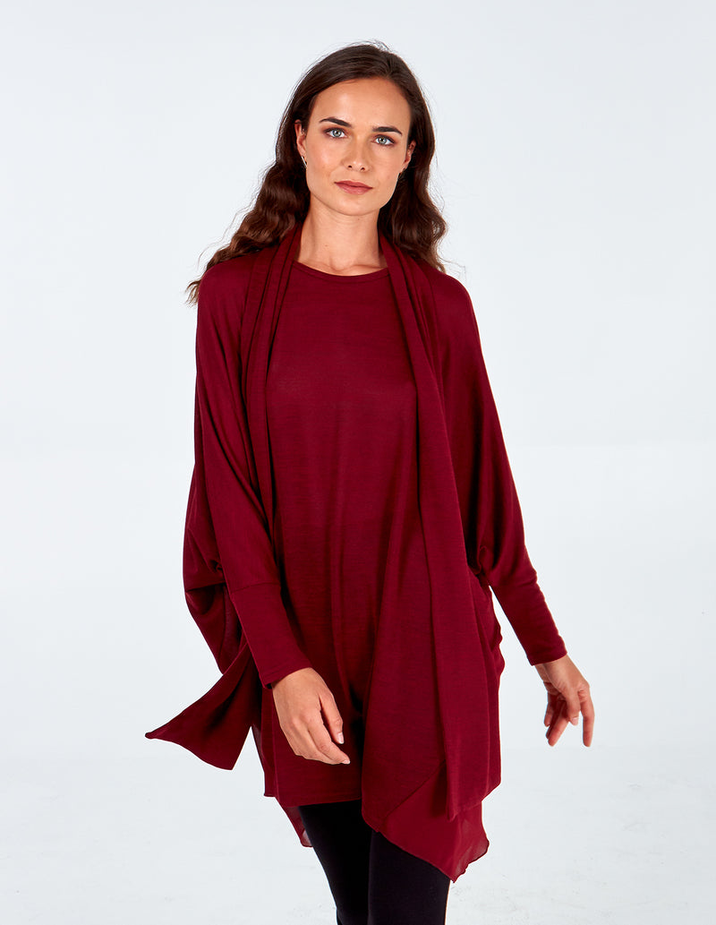 RABIA - Claret Tunic And Scarf Set