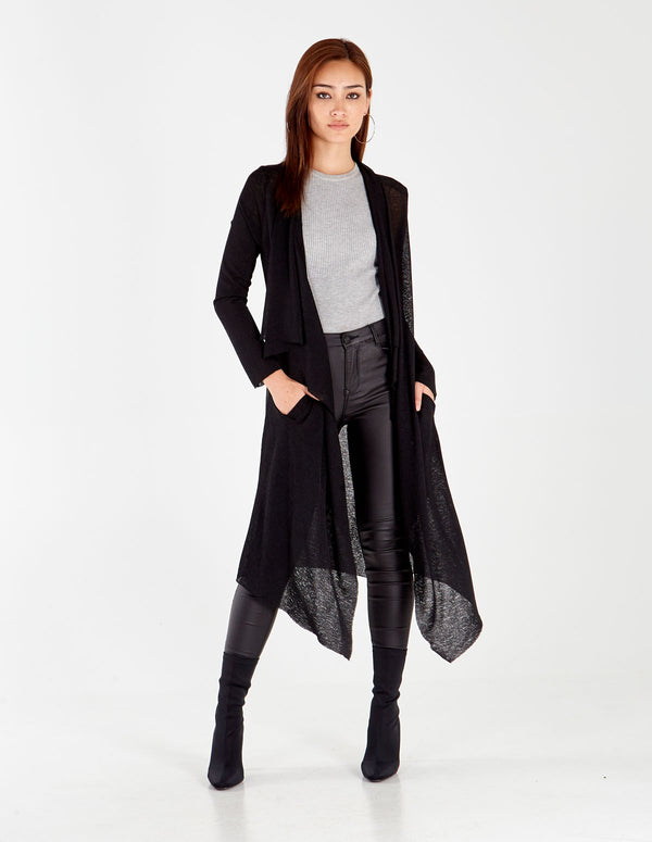 EBBA - Angel Wings Black Cardigan