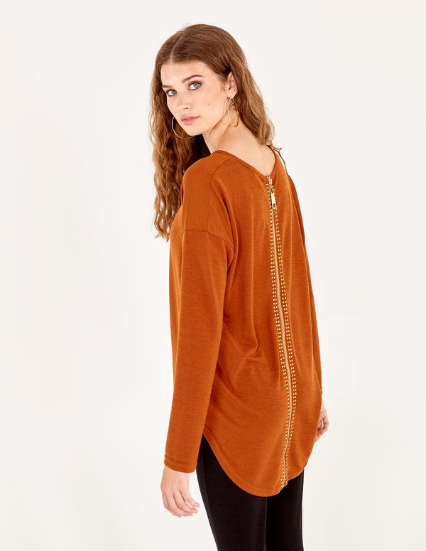 DOLLY - Zip Back Oversized Top