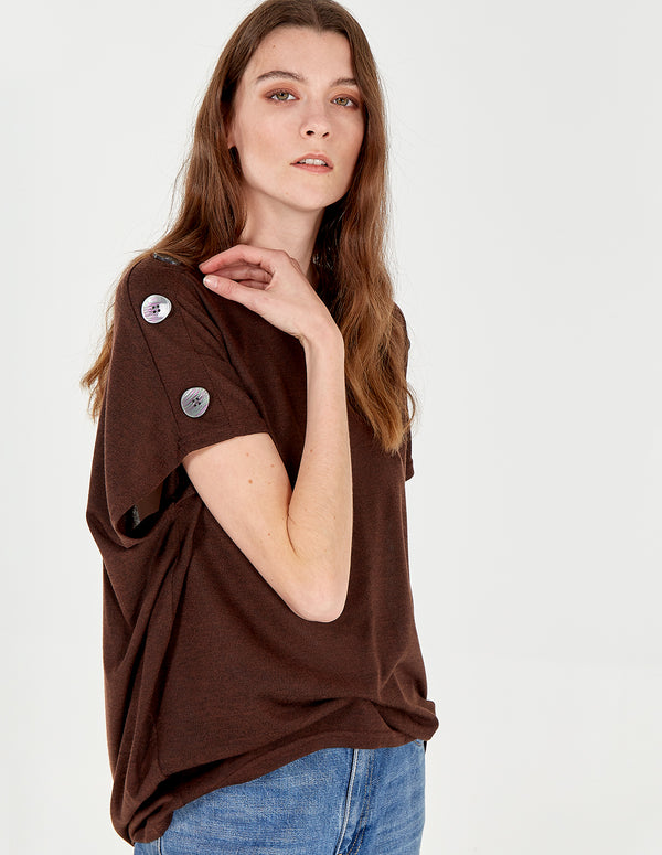 HEIDI - Button Shoulder Top