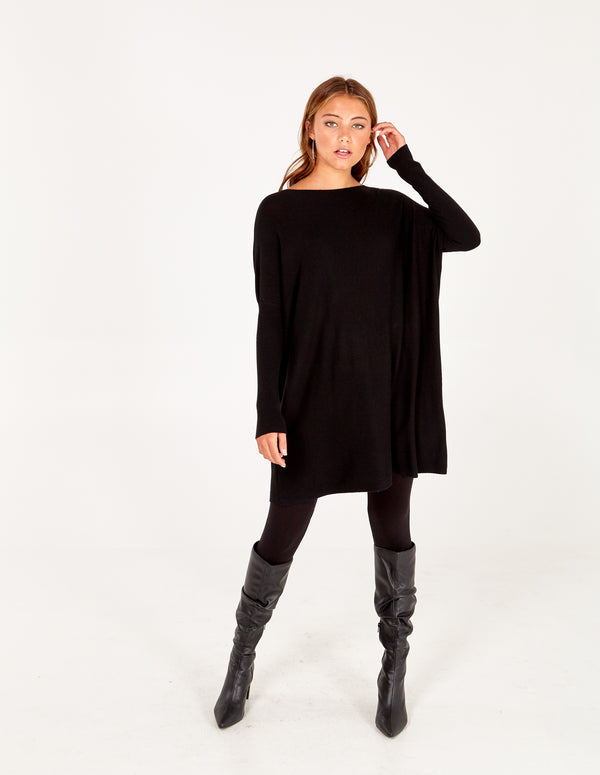 KAITLYN - Sequin Wing Oversized Jumper