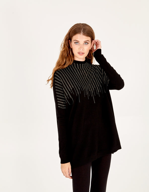 AIMEE - Gem Stripe Batwing Jumpers