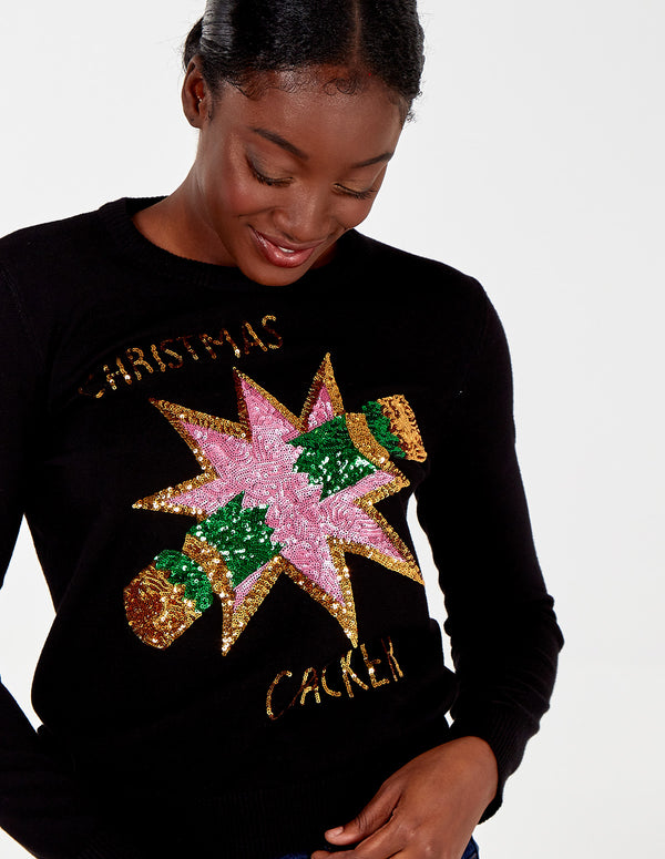 ALAYNA - Christmas Cracker Sequin Jumper