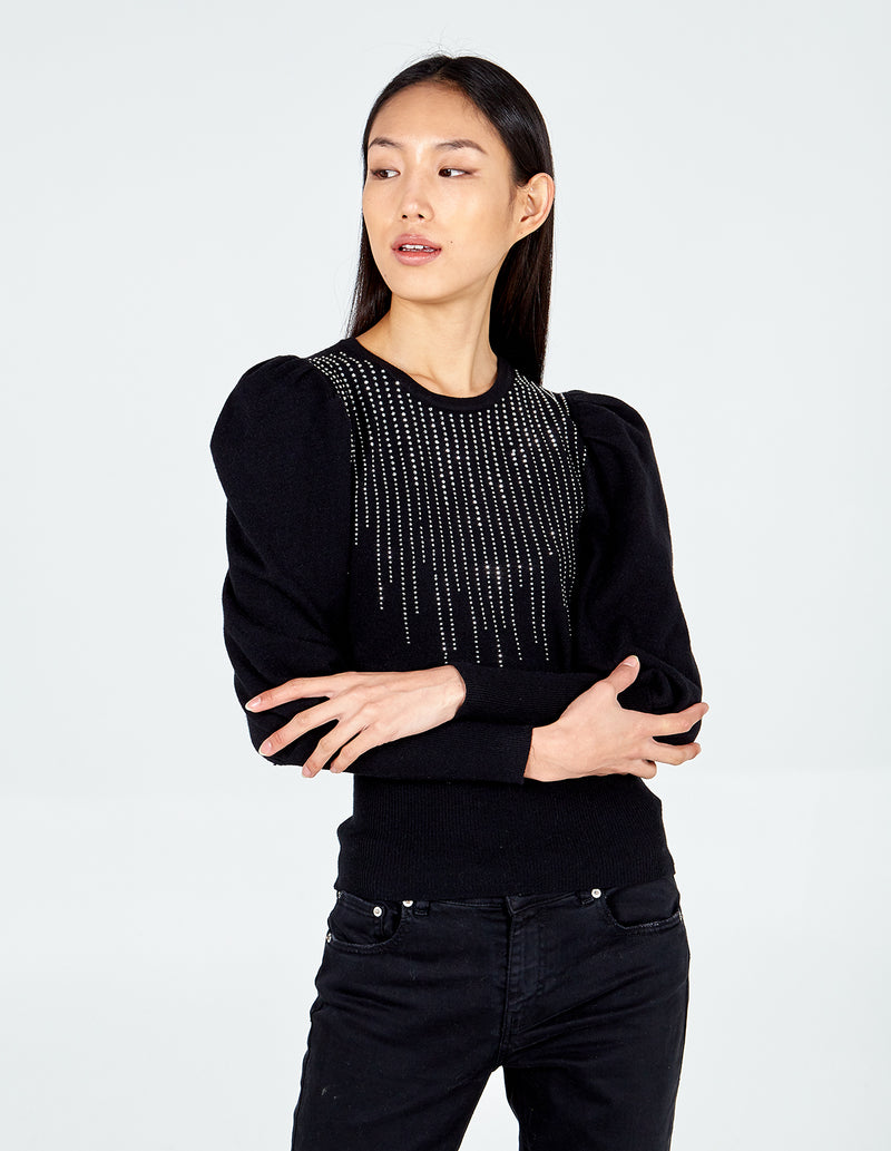 HANNAH - Puff Sleeve Diamante Jumper