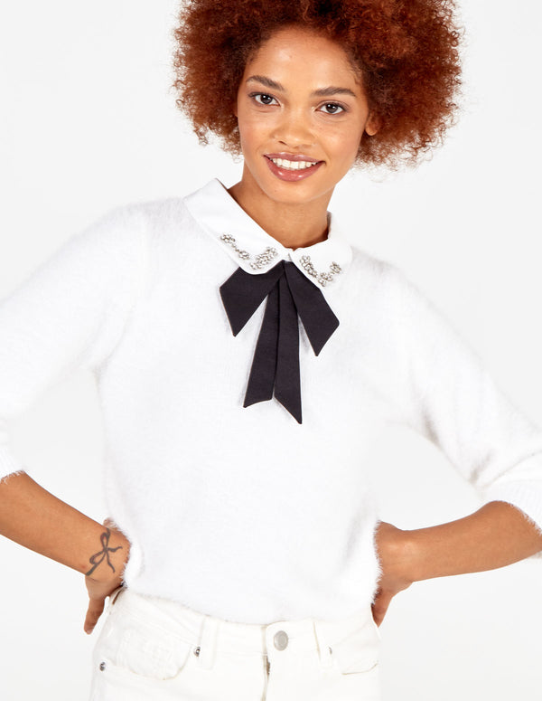 DOROTHY - Diamond Collar Jumper