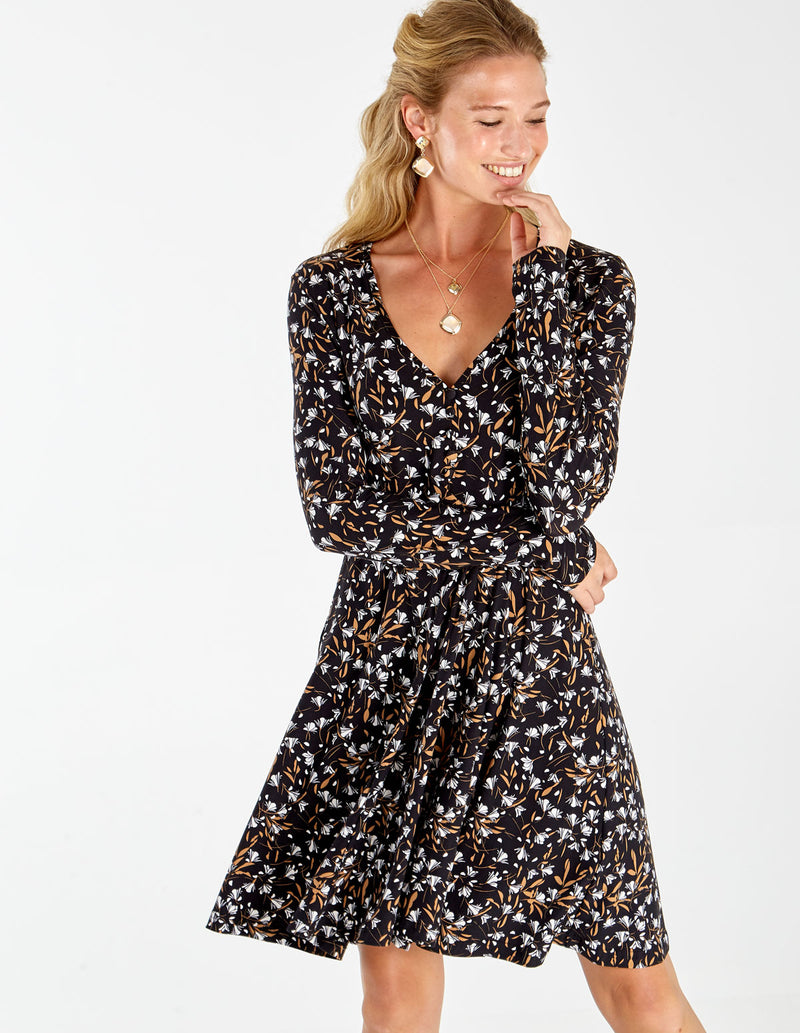 MARLEY - Button Front Fit & Flare Dress