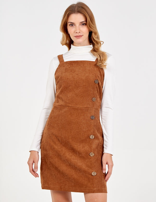 TIA - Button Side Cord Dress