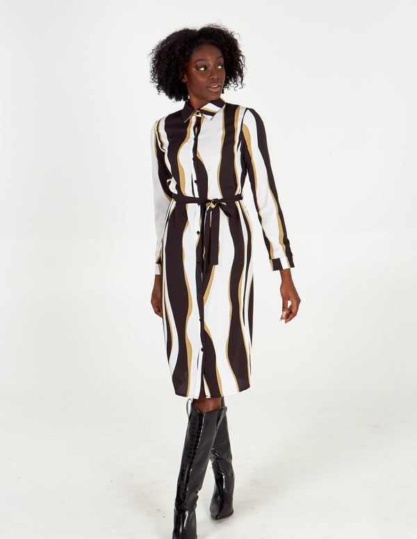 FRANCES - Longline Shirt Dress